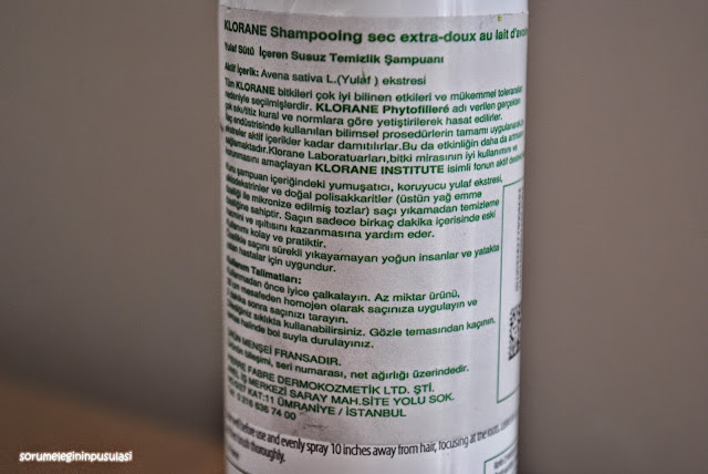 klorane-kuru şampuan-kuru sampuan-dry shampoo-sampuan-şampuan-shampoo-sorumelegininpusulasi-blog-blog yazari-türk blog yazari