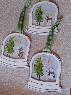 fresh crafts blog: Avery Elle snow globe shaker tag