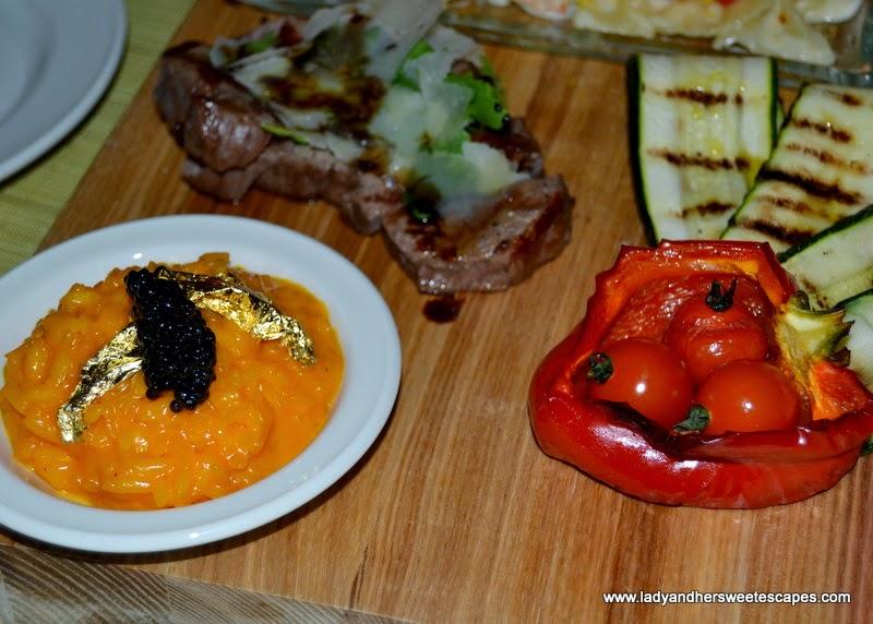 risotto at Serafina in Souk Al Bahar Dubai