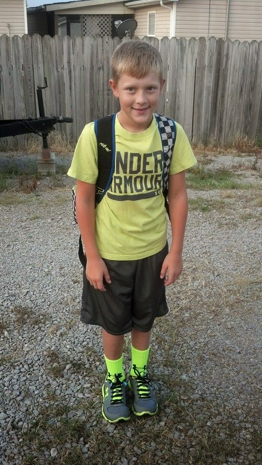 Shawn's 1st day of 4th grade August 2014