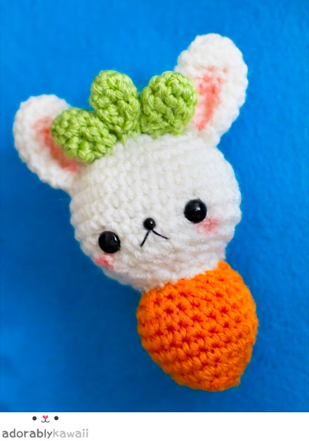 Amigurumi Patterns Contest : Carrot Bunny Amigurumi Adorably Kawaii
