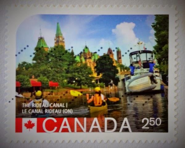 francobollo The Rideau Canal - Le Canal Rideau