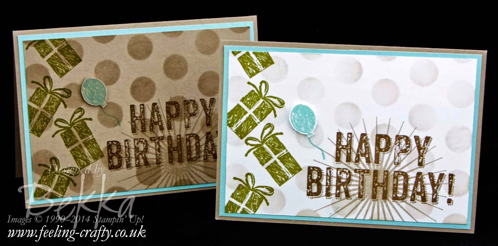 Birthday Surprise from Stampin' Up! UK - check out this blog for lots of great ideas