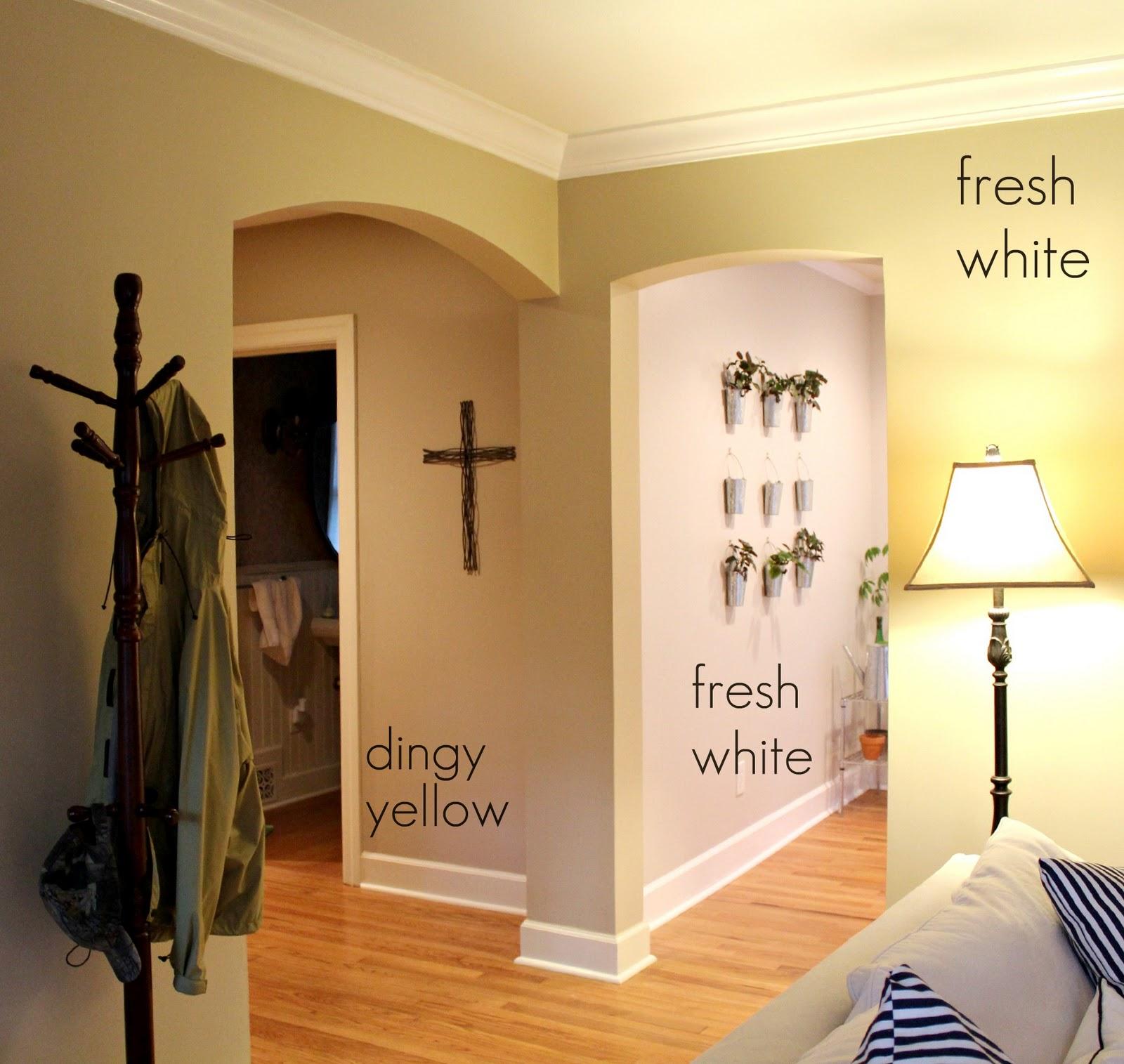 Ten June: Living Room Updates: Fresh White Trim