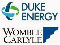 Duke Energy & Womble Carlyle logos.
