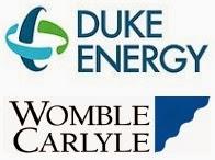 Duke Energy & Womble Carlyle logos.