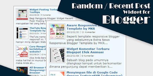 Widget Artikel Acak [Random Post] dan Artikel Terbaru [Recent Post]