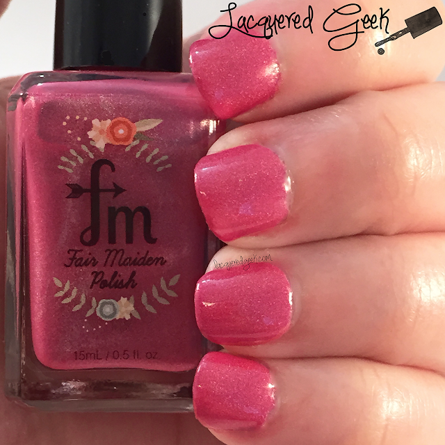 Fair Maiden Polish Stargazer nail polish swatch by Lacquered Geek