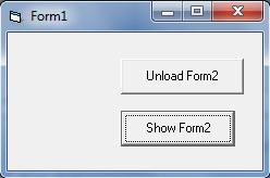 Hide or Unload a form