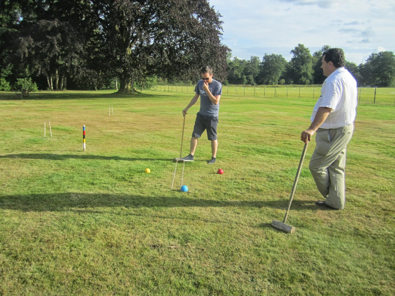 how to hit a croquet ball