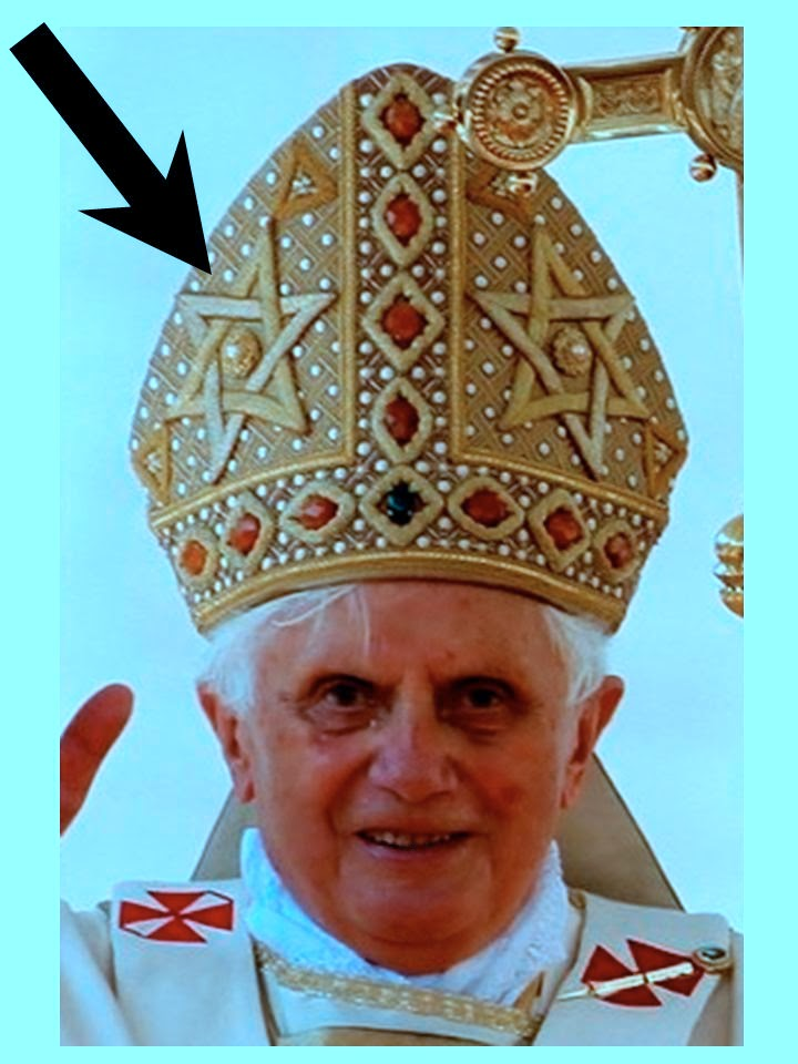 Occultic Mitres of Benedict XVI