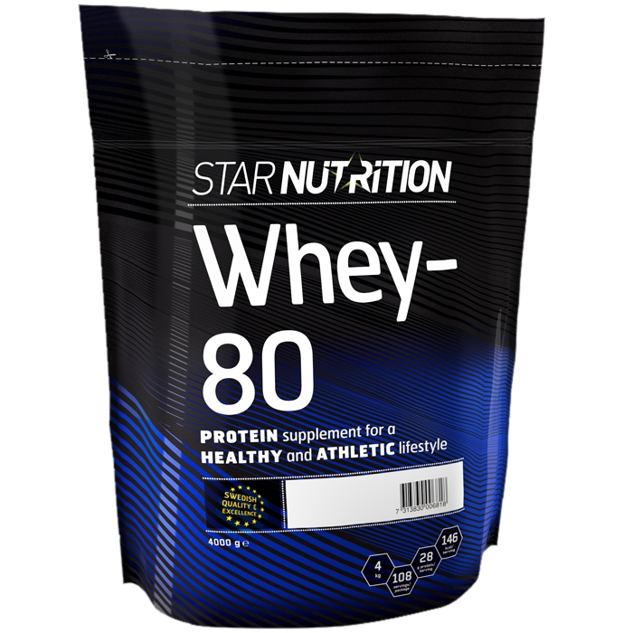 star nutrition whey 80 dosering