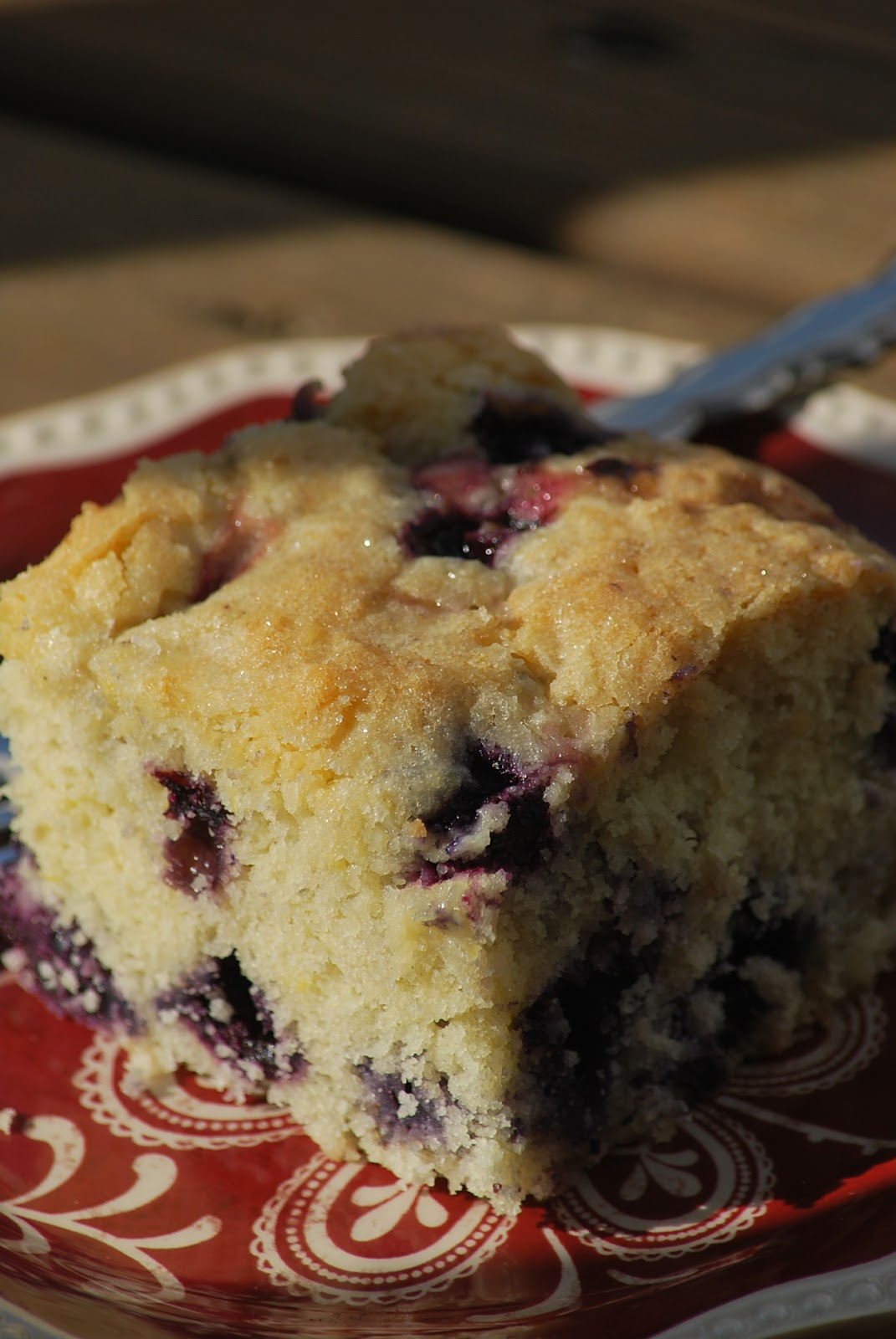Fresh Blueberry Coffee Cake Recipe — Dishmaps