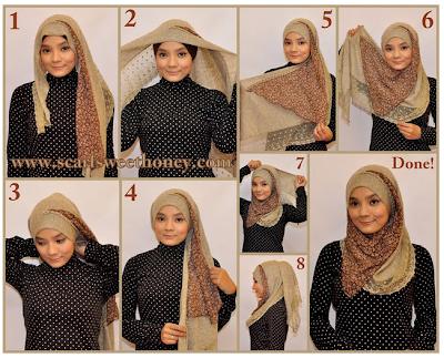 Cara Memakai Jilbab Vintag Elisa Style