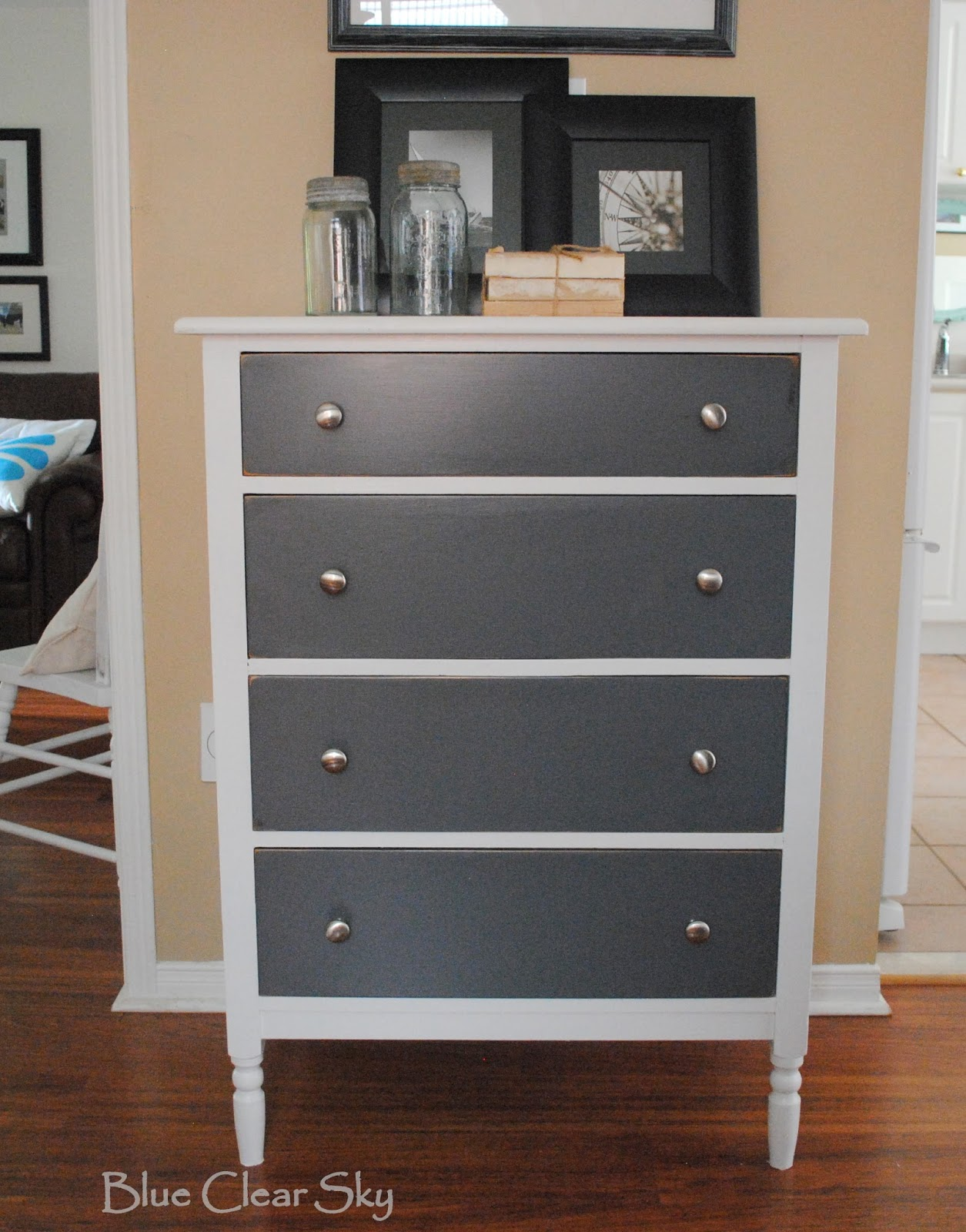 steele furniture oak ph picket in house finish smokey gray dresser