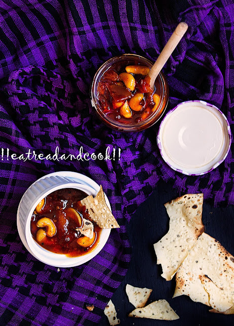 tomato chutney with dates and aamsotto recipe bengali style