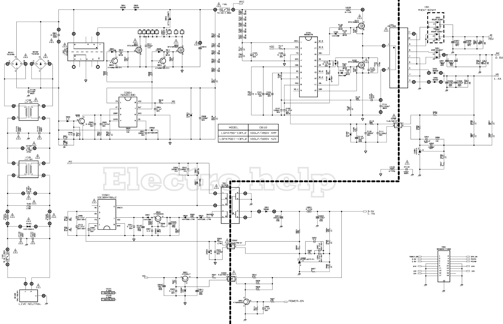 Lg Power Supply - Eay62810801 - Schematic