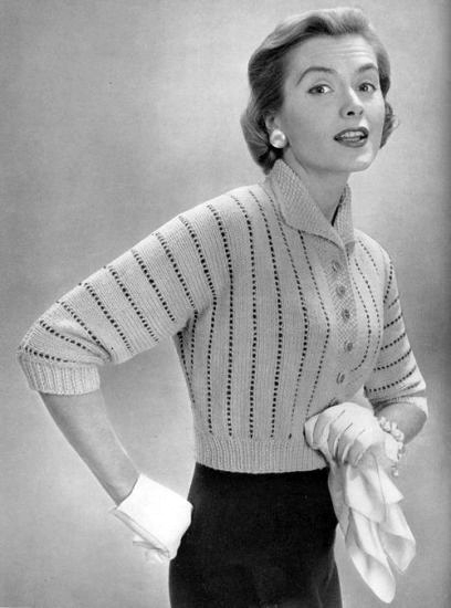 Free Vintage Knitting Patterns 1950s : The Vintage Pattern Files: 1950s Knitting - Quick Knit Cardigan