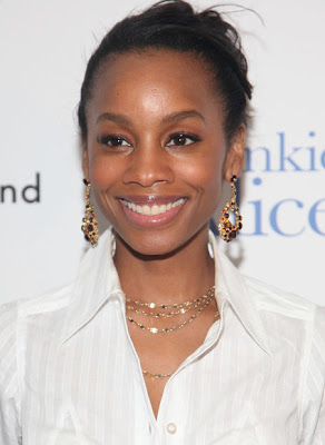 Anika Noni Rose Dangling Gemstone Earrings