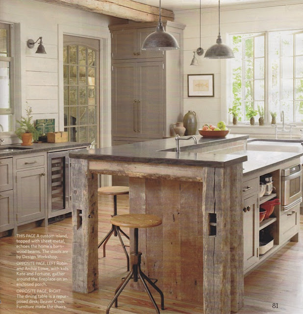 Barn Wood Kitchen: Beautiful Living : August 2011