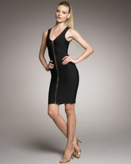 Herve Leger Zip-Front Bandage Dress