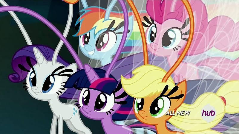 The Mane Six (sans Flutters) as Breezies
