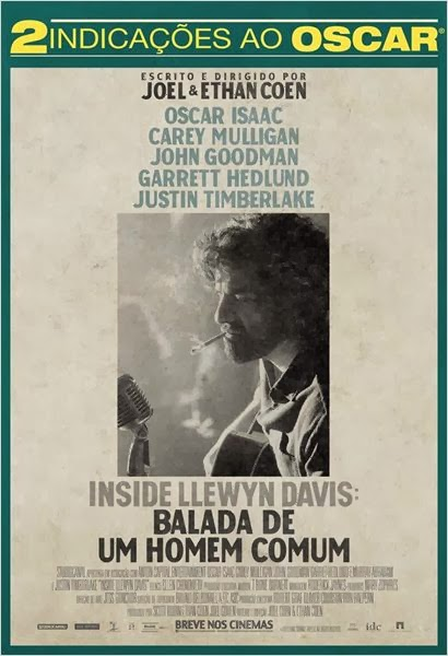 """Poster do filme """"Inside Llewyn Davis – Balada de um Homem Comum"""""""