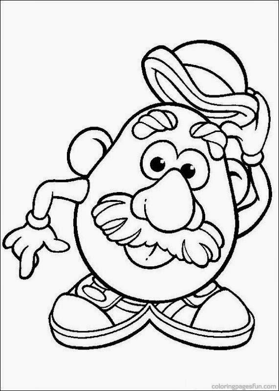 Dibujos para colorear. Maestra de Infantil y Primaria.: Mr Potato ...