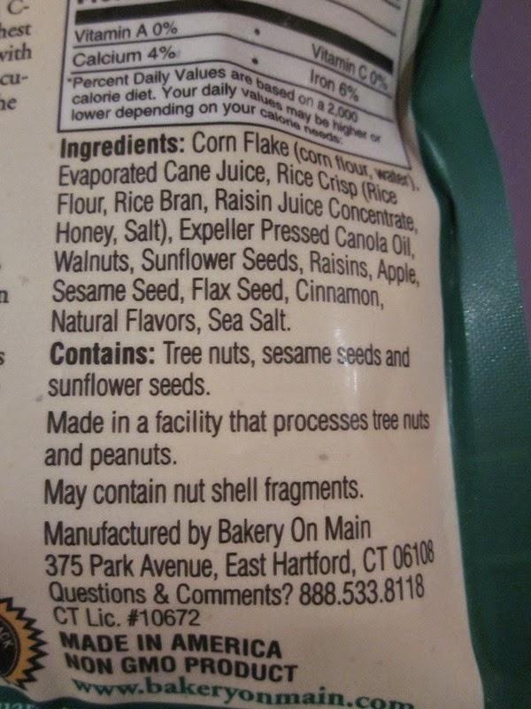 Muesli sans gluten Apple Raisin Walnut Granola