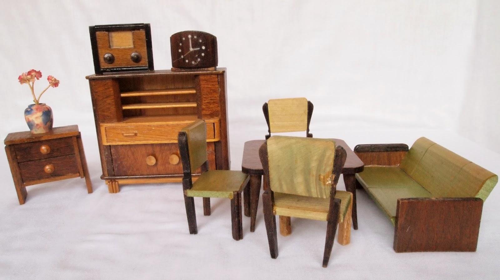 Diepuppenstubensammlerin 1950er wohnzimmer r lke 50s for Wohnzimmer 1950