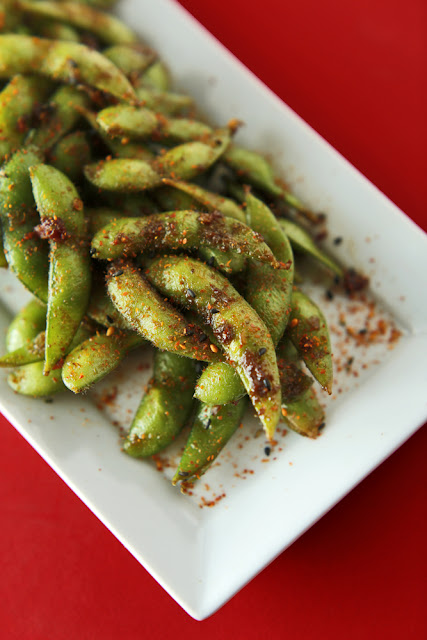 Spicy Edamame + Togarashi