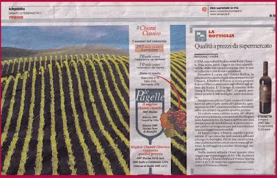 recensione La Repubblica Toscana Gourmet vino il Pozzo riesrva 2007 Cantine Fratelli Bellini