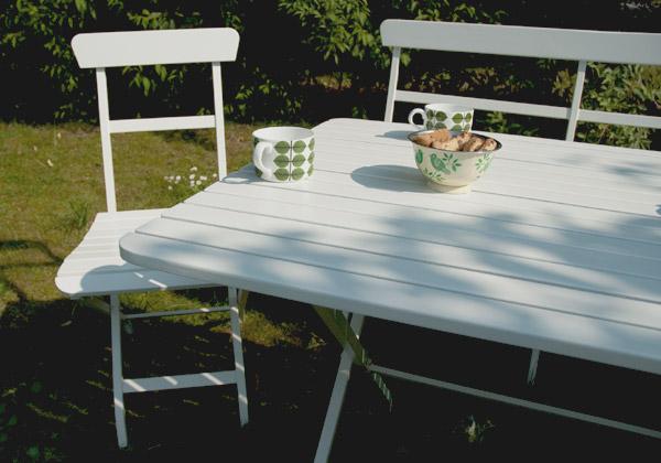 Mälarö - vita utemöbler från IKEA