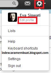 Masuk ke pengaturan edit profil twitter