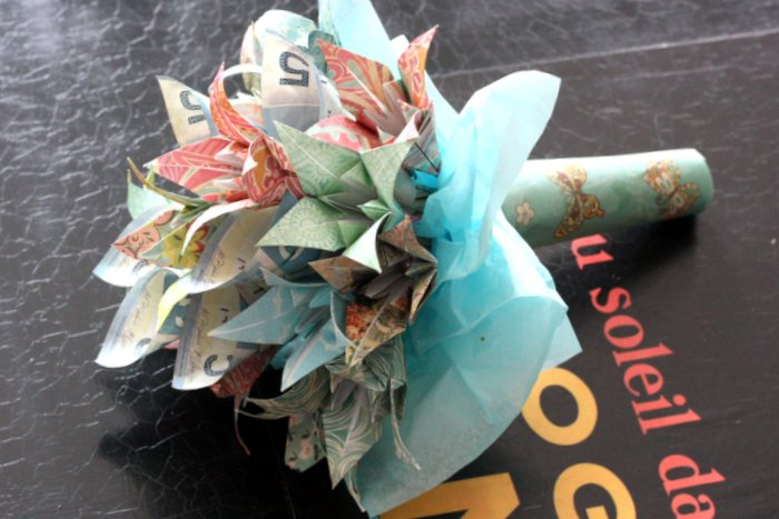Brinner : DIY flower bouquet with origami lilies