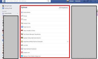 Semua Aplikasi Facebook