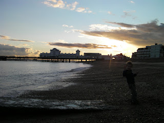 south parade pier at sunset