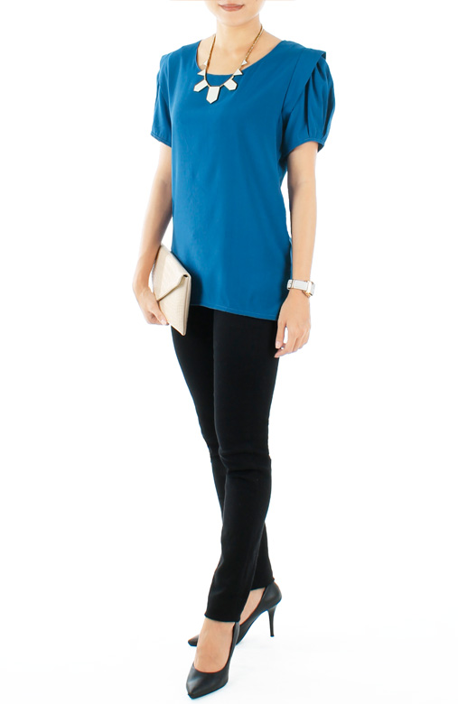 Nightfall Azure Blue Blouse