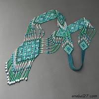"""схемы бисероплетение гердан гайтан ткачество узоры.  Схема гердана  """"Бирюзовые мечты """" - ткачество / гобеленовое..."""