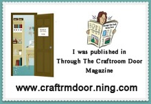 I was Published in the Craft Room Door Magazine