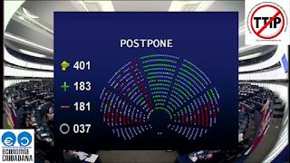 Votación sobre el debate del TTIP en el Parlamento Europeo