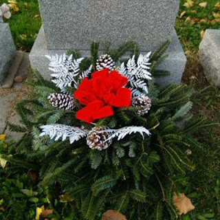 Order a Christmas Grave Pillow