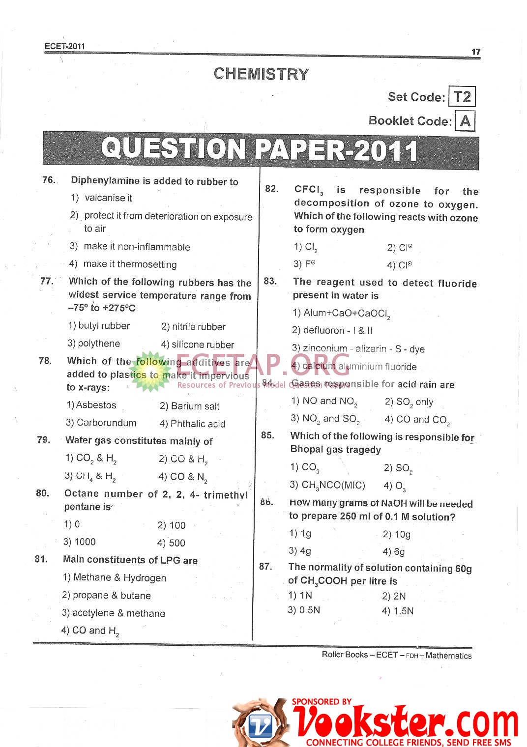 TS ECET Model Questions Papers 2019