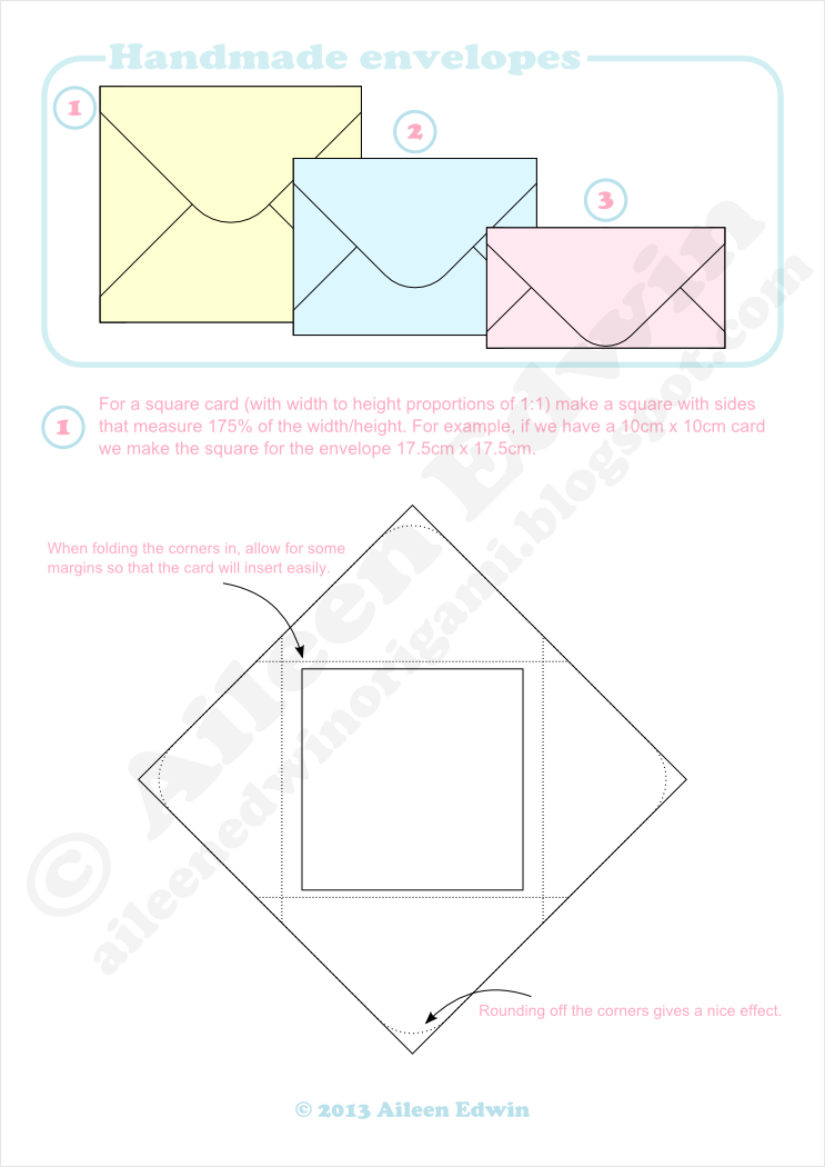 Handmade Envelope Instructions (Aileen Edwin)