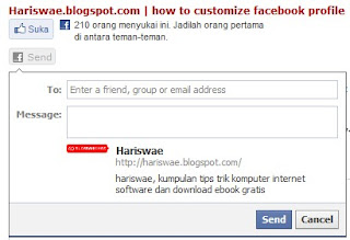 cara pasang tombol send facebook di blogger, di blogspot,di blog