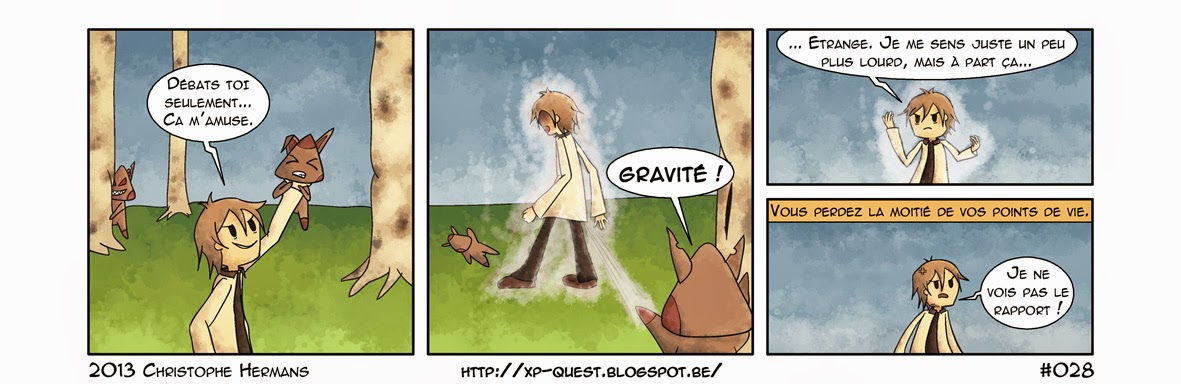 Gravité  FF  strips  webcomic  bande dessinée