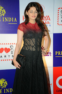 Actress Sneha Ullal Latest Pictures in Long Dress at CCL Charity Dinner  14