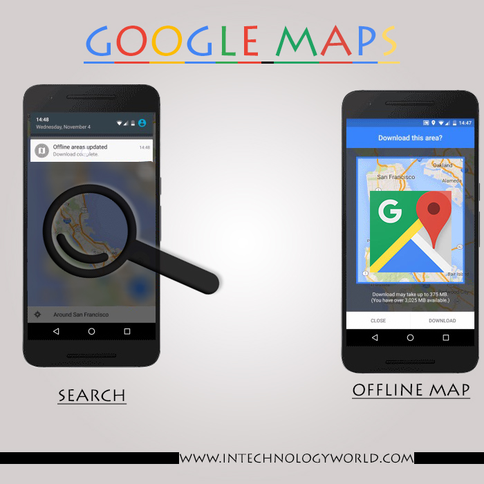 Android Google Maps get Offline Navigation and Search Feature - In on google sync android, google docs offline android, google chrome search, google maps android icon, city maps 2go android,