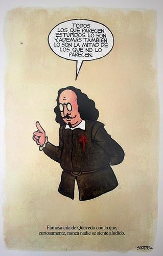 Ilustración de Quevedo obra de Alberto Sintes