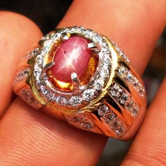 lp555 jenis batu permata natural ruby star biasa disebut batu permata